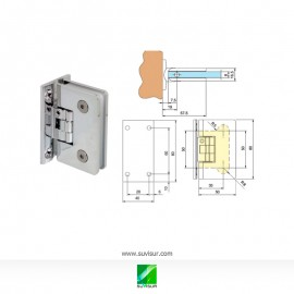 Bisagra simple pared Vidrio 90º 6-10mm regulable