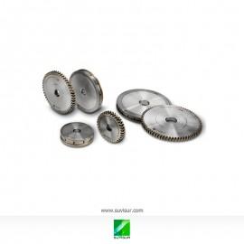 Muelas diamante para canteado de recto y formas en CNC verticales