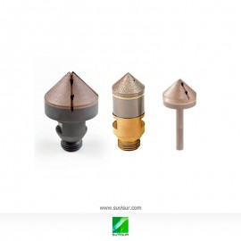Avellanador de diamante, con diferentes cogidas y soportes
